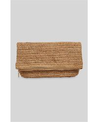 Whistles - Chapel Straw Foldover Clutch - Lyst