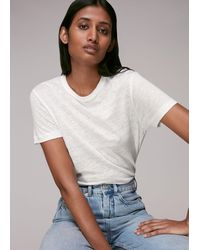 Whistles Ultimate Linen T-shirt - Multicolour