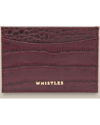 Whistles Shiny Croc Card Holder - Purple