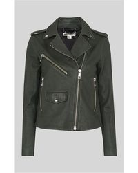 Whistles - Agnes Leather Biker Jacket - Lyst