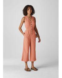 Whistles Ria Denim Jumpsuit - Orange