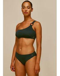 Whistles Textured Bikini Bottom - Green