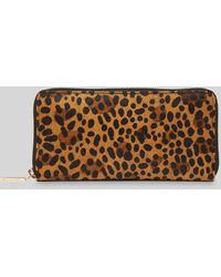 Whistles Reigate Leopard Wallet - Multicolour