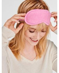 White + Warren Cashmere Eye Mask - Pink