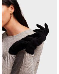 White + Warren Cashmere Glove - Black