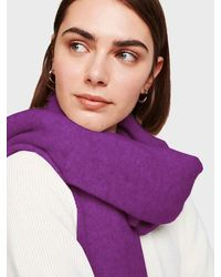 White + Warren Cashmere Travel Wrap - Purple