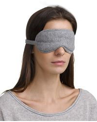 White + Warren Cashmere Eye Mask - Gray
