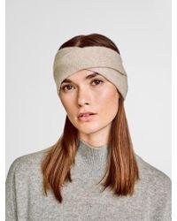White + Warren | Cashmere Crossover Headband | Lyst