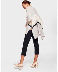 White + Warren - Cashmere Bold Stripe Poncho - Lyst