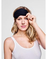 White + Warren Cashmere Eye Mask - Black