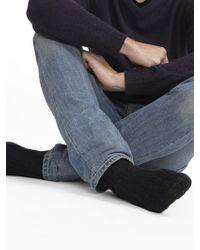 White + Warren - Mens Cashmere Rib Socks - Lyst
