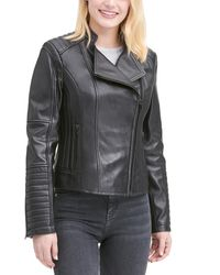 Wilsons Leather - Plus Size Quilted Leather Moto Jacket - Lyst