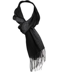 Wilsons Leather - M Wl Woven Suddle Line Black Scarf - Lyst