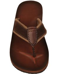 Wilsons Leather - Layered Stitch Leather Flip Flop - Lyst