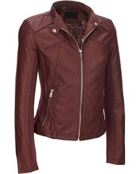 136071350e0 Wilsons Leather - Plus Size Black Rivet Snap-tab Collar Faux-leather Jacket  W