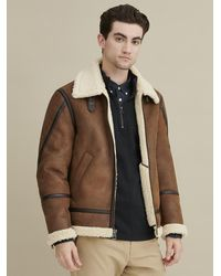 Wilsons Leather Faux Shearling Coat - Brown