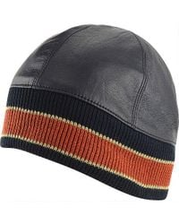 Wilsons Leather - Leather Skull Cap W/ Orange Stripe - Lyst