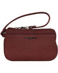 Wilsons Leather Designer Brand Saffiano Leather Wristlet W/ Leather Strap - Multicolor