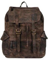 Wilsons Leather Nicholas Vintage Leather Backpack - Brown