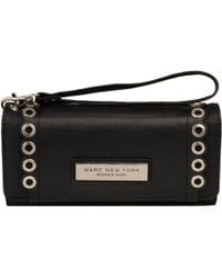 Wilsons Leather - Marc New York Flap Over Faux-leather Wallet W/ Scallop Eyelets - Lyst