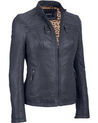 Wilsons Leather - Wilsons Vintage Center Zip Genuine Lamb Scuba Jacket - Lyst