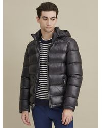 Wilsons Leather Heavyweight Puffer With Removable Hood - Black