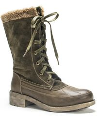 Wilsons Leather - Muk Luks® Sherpa Trim High Laced Boot - Lyst