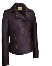 Wilsons Leather - Vintage Asymmetrical Cycle Leather Jacket W/ Arm And Side Detail - Lyst