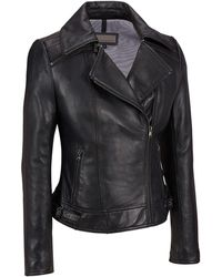 Wilsons Leather - Plus Size Zipper Collar Lamb Cycle Jacket - Lyst