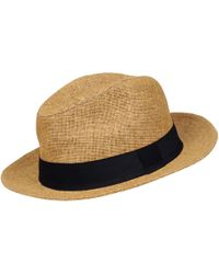 Wilsons Leather Straw Panama Hat W/ Black Band - Multicolor