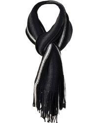 Wilsons Leather - Medium-knit Stripe Scarf - Lyst