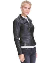 Wilsons Leather - First Classics Asymmetrical Leather Cycle Jacket W/ Side Buckles - Lyst