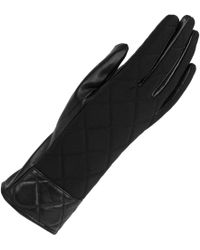Wilsons Leather Quilted Back Glove W/ Leather Palm - Black