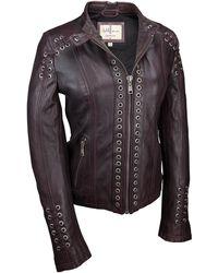 Wilsons Leather - Grommet Placket Vintage Jacket W/ Back Lacing - Lyst