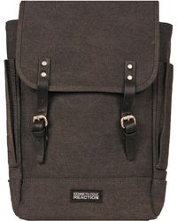 Wilsons Leather Kenneth Cole Day Trip Canvas Rucksack Backpack - Gray