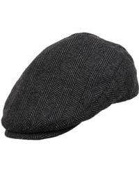 Wilsons Leather Adjustable Herringbone Ivy Cap - Gray