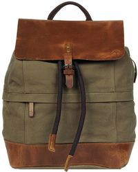 Wilsons Leather Timberland Nantasket Canvas And Leather Backpack - Green