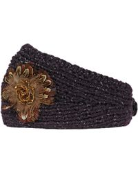Wilsons Leather - Knit Headband W/ Button Closure - Lyst