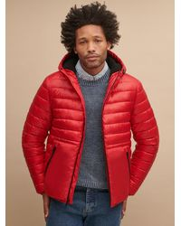 Wilsons Leather Reversible Hooded Puffer - Red