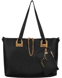 Wilsons Leather - Marc New York Top Zip Faux-leather Tote W/ Hang Chain And Wristlet - Lyst