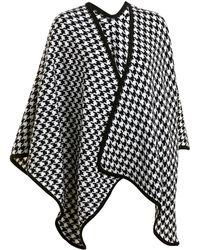 Wilsons Leather - Sylvia Alexander Houndstooth Blanket Wrap - Lyst