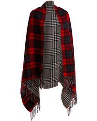 Wilsons Leather - Sylvia Alexander Reversible Plaid Wrap - Lyst