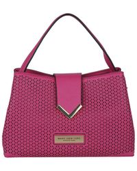 Wilsons Leather Perforated Satchel - Multicolor