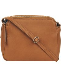 Wilsons Leather - Two Top Zip Leather Crossbody - Lyst