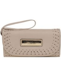 Wilsons Leather - Marc New York Perforated Flap Over Faux-leather Wallet - Lyst