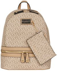 017f99eff Burberry Children'S Mini Leather-Trim Canvas Backpack in Brown - Lyst