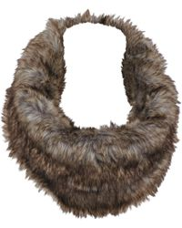 Wilsons Leather - David And Young Faux-fur Infinity Scarf - Lyst