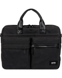 Wilsons Leather - Solo Double Pocket Wax Coat Canvas Briefcase - Lyst