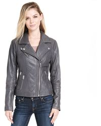 Wilsons Leather - Web Buster Asymmetrical Zip Moto Leather Jacket - Lyst
