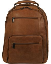 Wilsons Leather Dome Shape Thunder Backpack In Genuine Leather - Brown